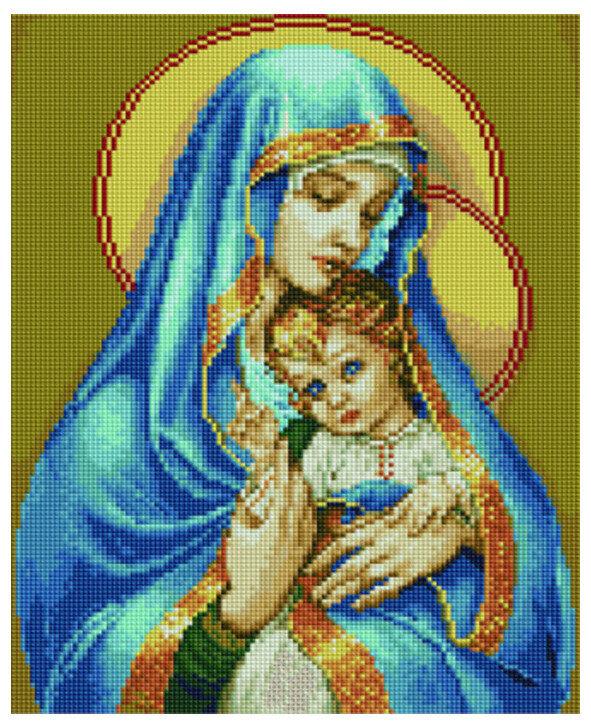Алмазная мозаика EF 745 Мадонна с младенцем 30*40