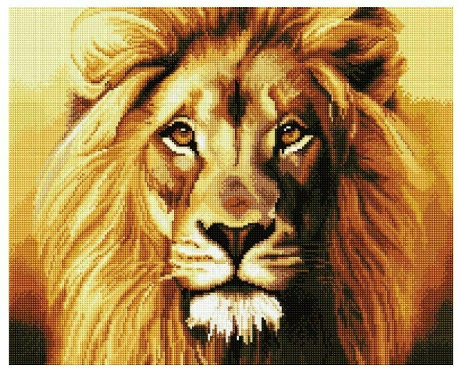 Алмазная мозаика GF 924 Царь зверей 40*50