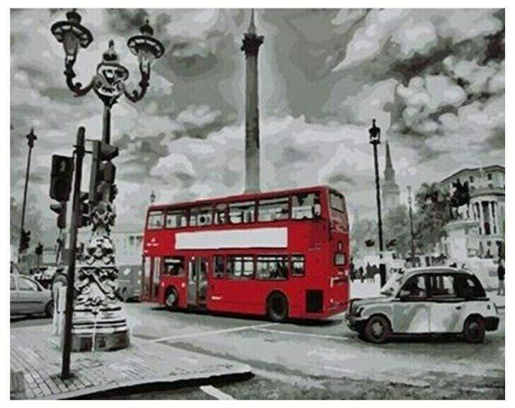 """Живопись на холсте Paintboy Original """"Красный автобус"""", 40х50"""