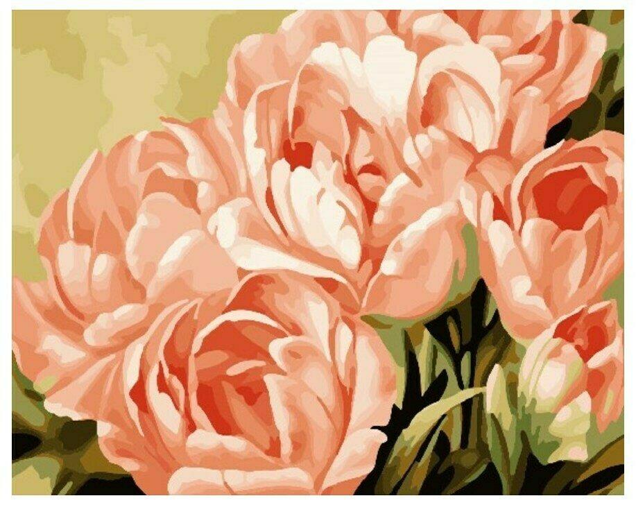 Картина по номерам GX 7268 Прекрасные тюльпаны 40*50