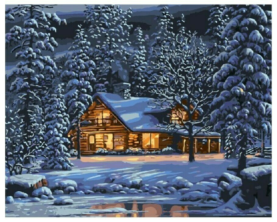 Картина по номерам GX 8141 Домик в горах 40*50