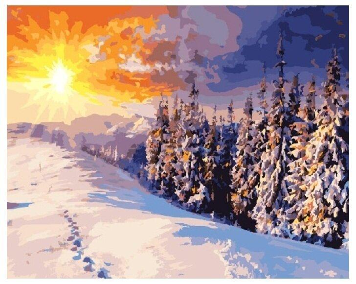 Картина по номерам GX 8783 Зимний рассвет 40*50
