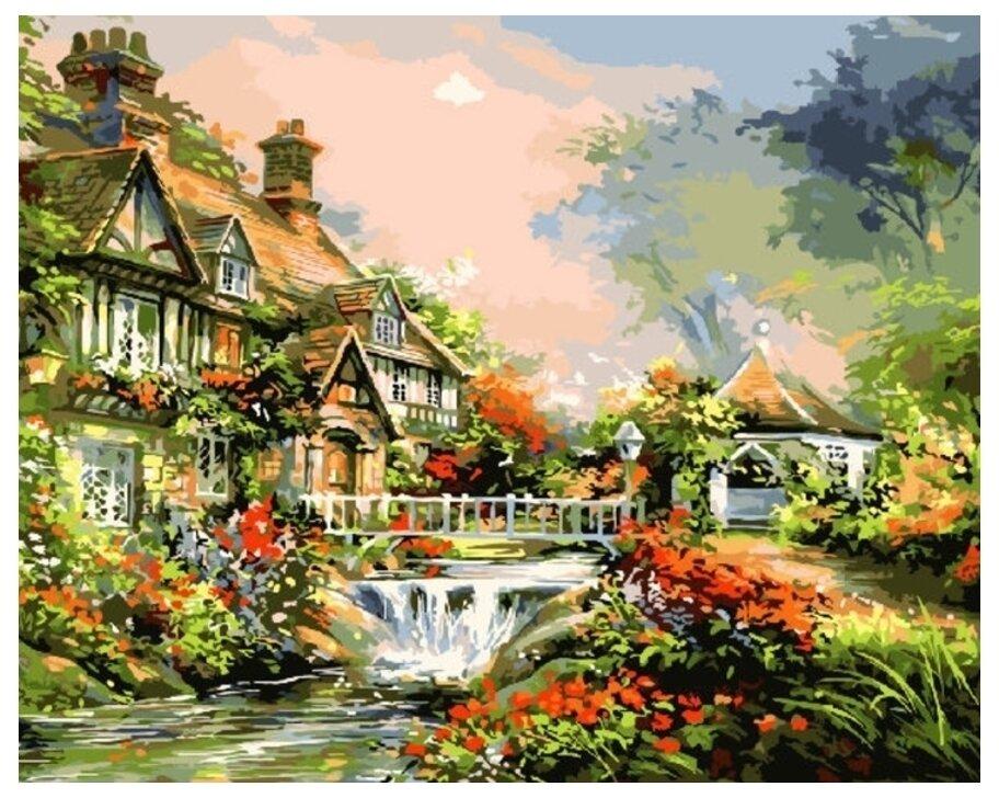 Картина по номерам GX 9992 Сказочный домик 40*50