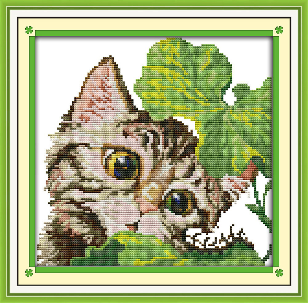 Набор для вышивания D 950 Любопытный кот 27x26