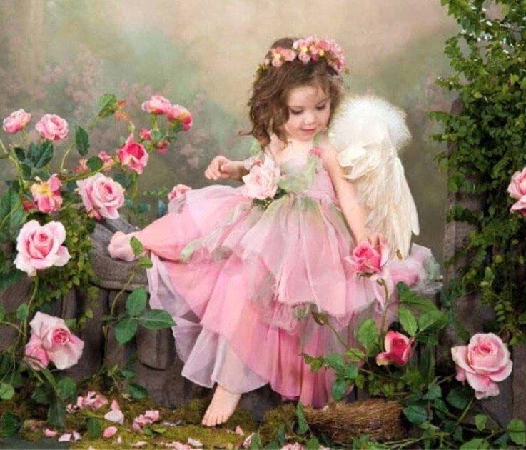 Картина по номерам 40х50 - Ангел среди роз