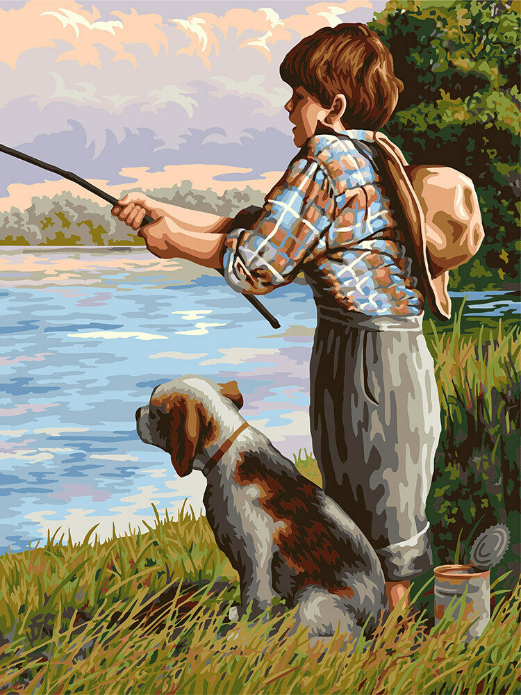 "Картина по номерам ""Друзья на рыбалке"", 40х50см, ФРЕЯ, PNB/R1 №134"