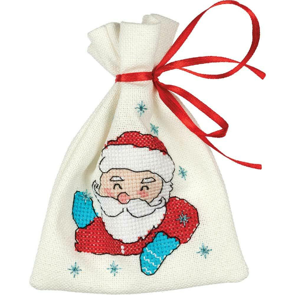 """Klart набор для вышивания, 8-402 """"Мешочек с Дедом Морозом"""""""