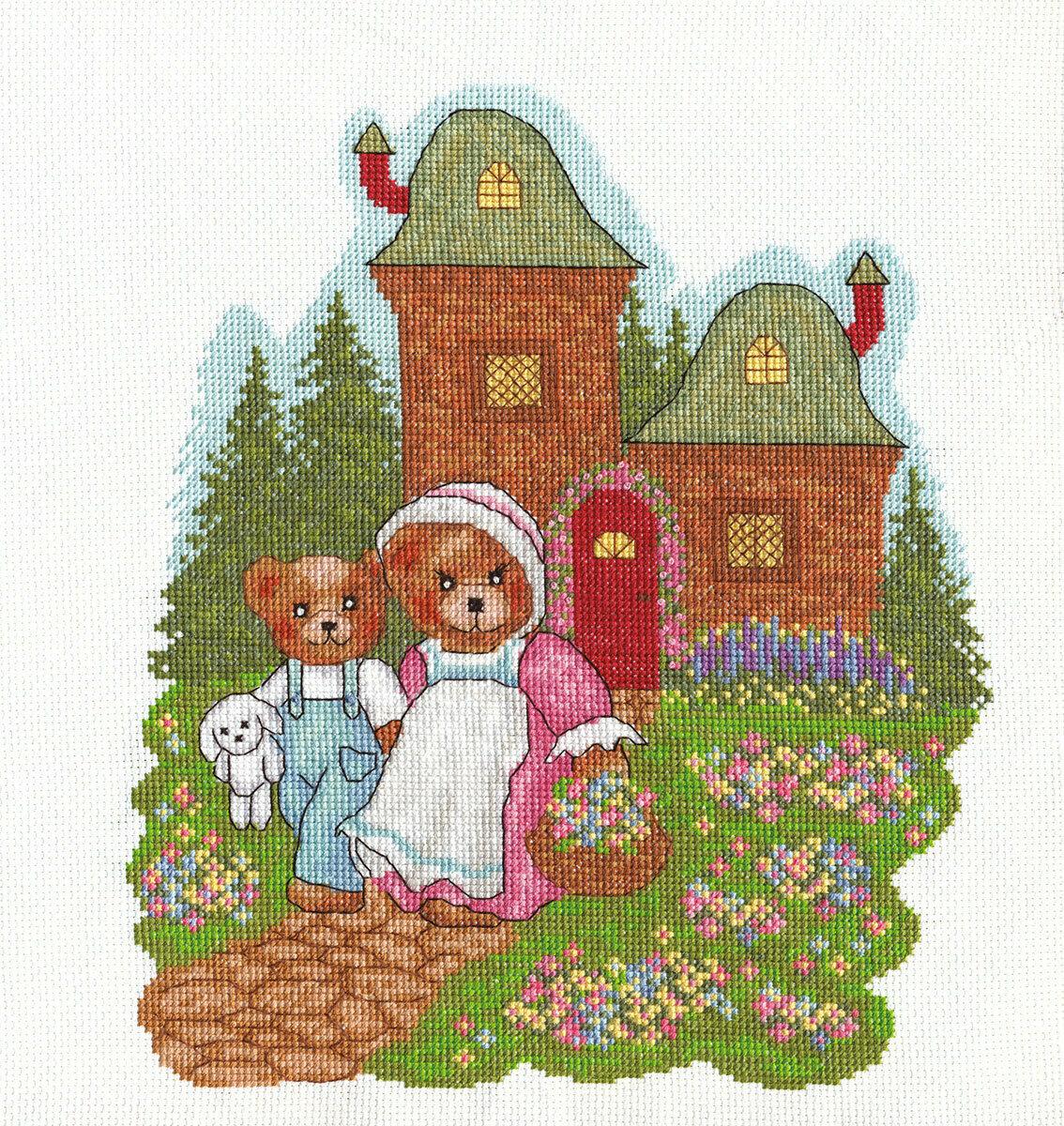 """Klart набор для вышивания, 8-061 """"Медвежата на прогулке"""""""