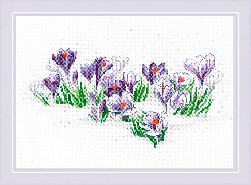 """Набор для вышивания """"RIOLIS"""" 1855 """"Крокусы под снегом"""", 30х21см"""