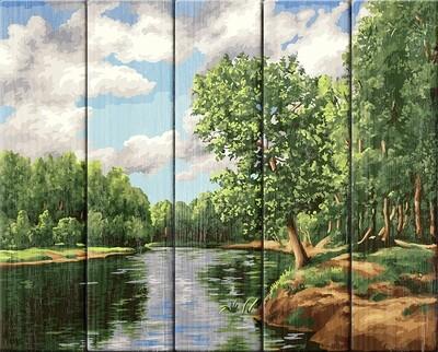 Картина по номерам по дереву