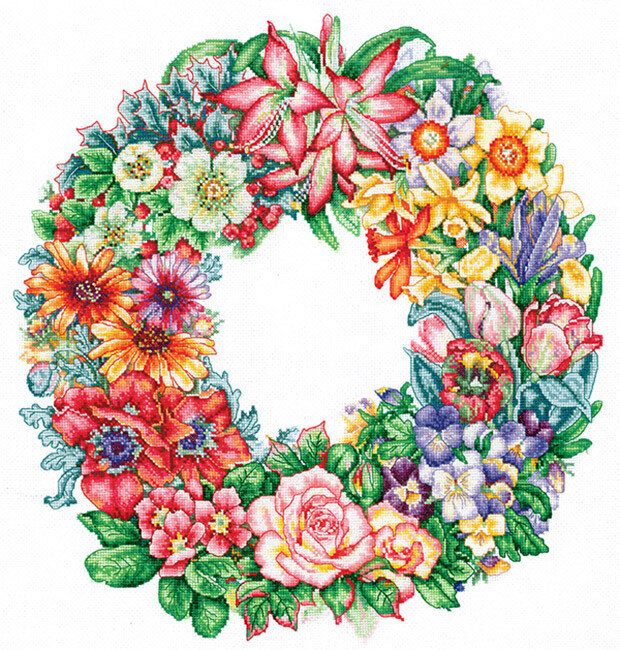 """Набор для вышивания """"ИН"""" №123Т-15 """"Торжество цветов"""" (хлопок) 35 х 36 см"""
