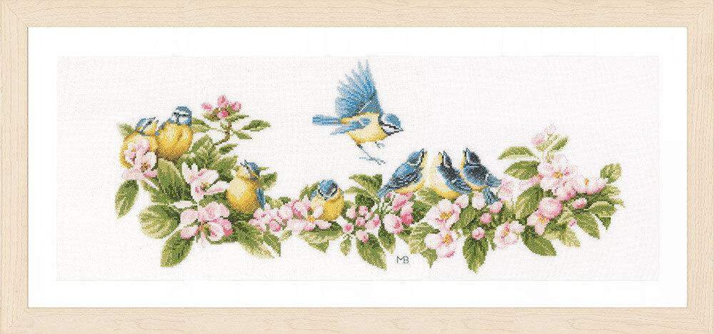 """Набор для вышивания """"LANARTE"""" №110PN-0173176 """"Синица и цветы"""""""