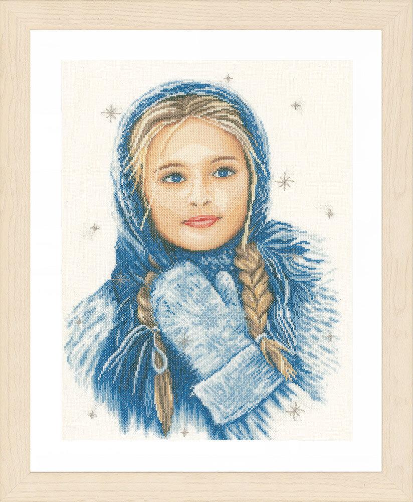 """Набор для вышивания """"LANARTE"""" №103PN-0169674 """"Зимняя девушка"""""""