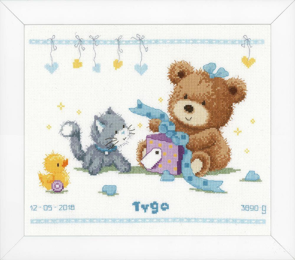 """Набор для вышивания """"VERVACO"""" PN-0157028""""Медведь с подарком"""""""