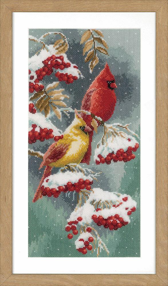 """Набор для вышивания """"VERVACO"""" PN-0165887""""Скарлет и снежные кардиналы"""""""