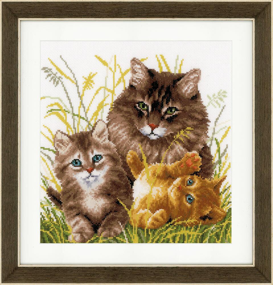 """Набор для вышивания """"VERVACO"""" PN-0156114""""Кошачья семья"""""""