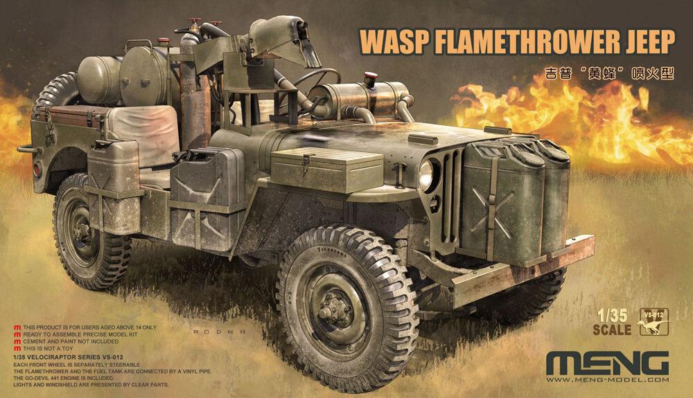 """MENG"" VS-012 ""автомобиль"" пластик 1/35MB Military Vehicle WASP Flamethrower"