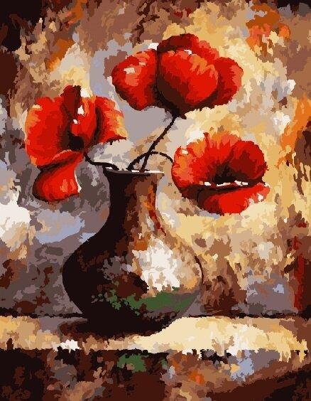 """Картина по номерам Paintboy GX7529 """"Три цветка"""" 40х50см"""