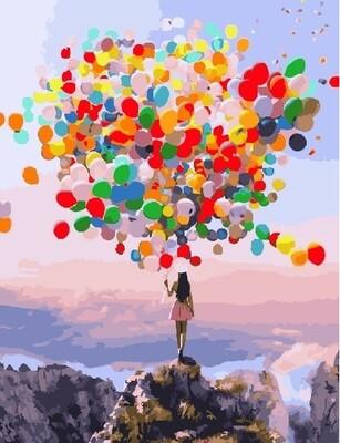 Картина по номерам PK16018 (GX25742) Разноцветные шары 40х50см