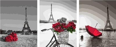 Картина по номерам PX 5273 Романтика Парижа 40х50см*3