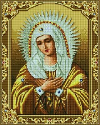 Алмазная мозаика GF 2715 Богородица Умиление 40х50см