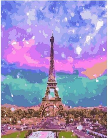 Картина по номерам PK72030 Красочный Париж 40х50см