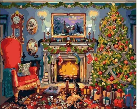 Картина по номерам PK72036 В ожидании Рождества 40х50см