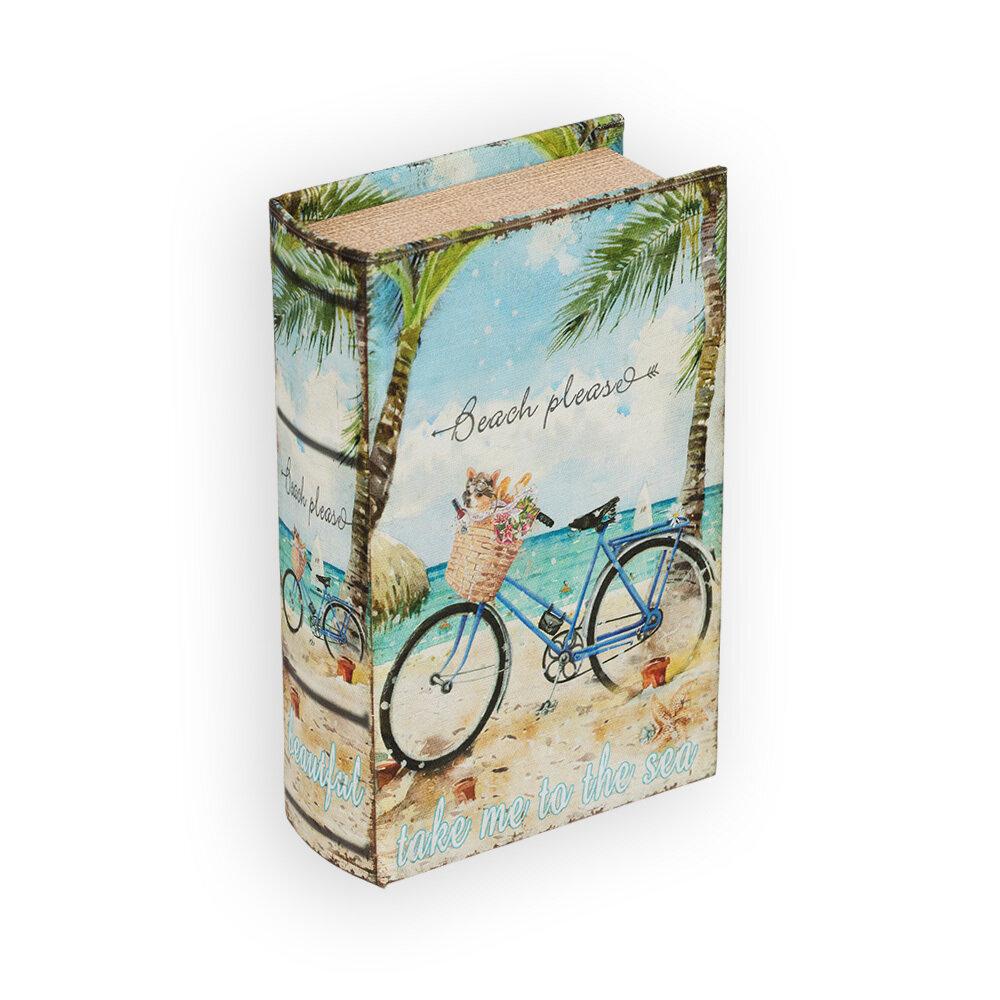 "BBK-01 шкатулка-книга 17 x 11 x 5 см, №090 ""Розы и бабочка"""