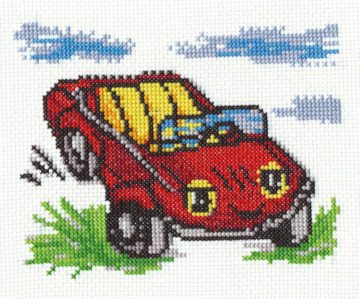 """Klart набор для вышивания, 8-058 """"Веселая машинка"""""""