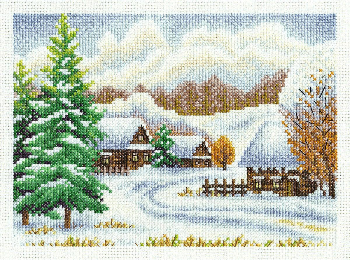 "Klart набор для вышивания, 8-065 ""Зимняя деревня"""