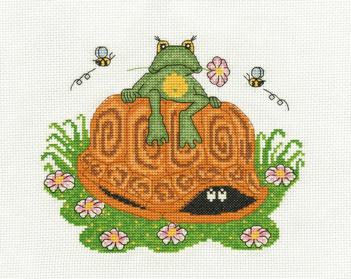 """Klart набор для вышивания, 8-072 """"Лягушонок и черепаха"""""""