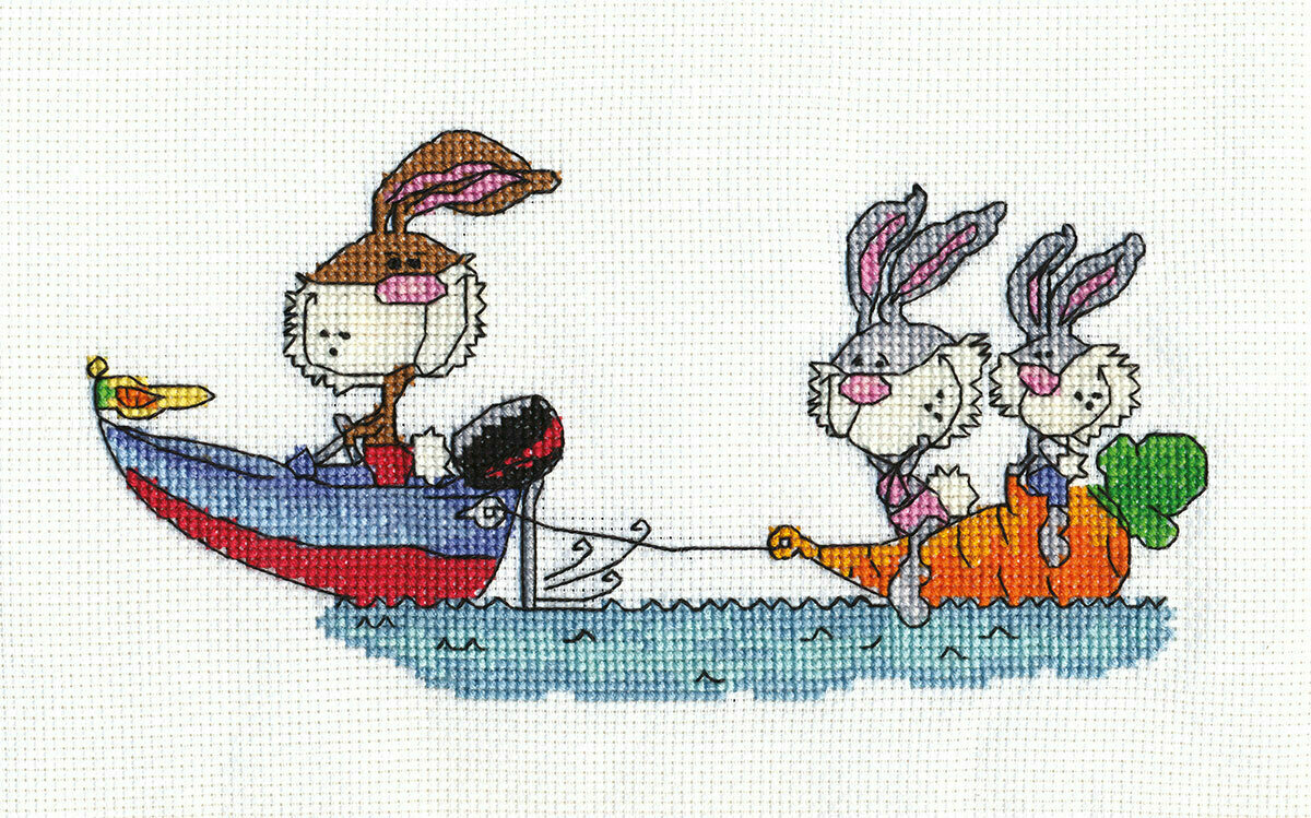 """Klart набор для вышивания, 8-080 """"Кролики на отдыхе"""""""