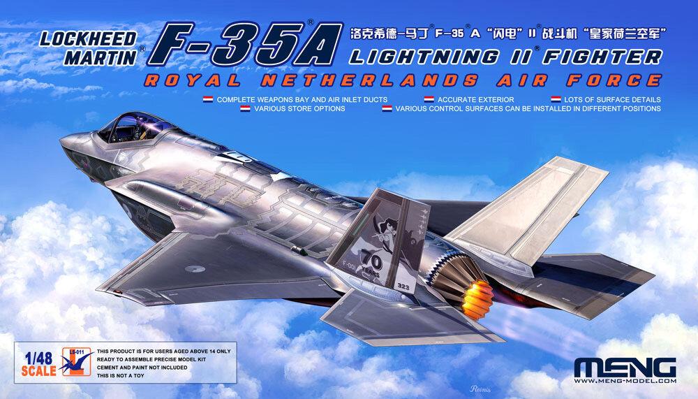"""MENG"" LS-011 ""самолёт"" пластик 1/48Lockheed Martin F-35A Lightning II Fighter Royal Netherlands Air Force"