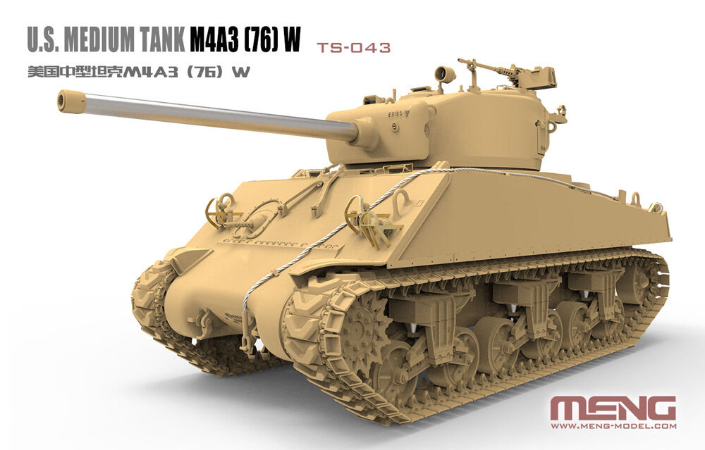 """MENG"" TS-043 ""танк"" пластик 1/35 U.S. Medium Tank M4A3(76)W Sherman"