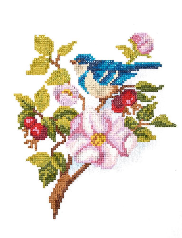 """Алмазная вышивка 25х20см""""ФРЕЯ"""" ALVR-02 058 """"Синяя птичка""""ALVR-02 058"""