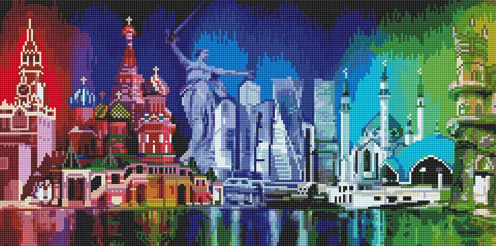 """Алмазная вышивка 30х60см""""ФРЕЯ"""" ALVK-02 """"Многоликая Россия""""ALVK-02"""