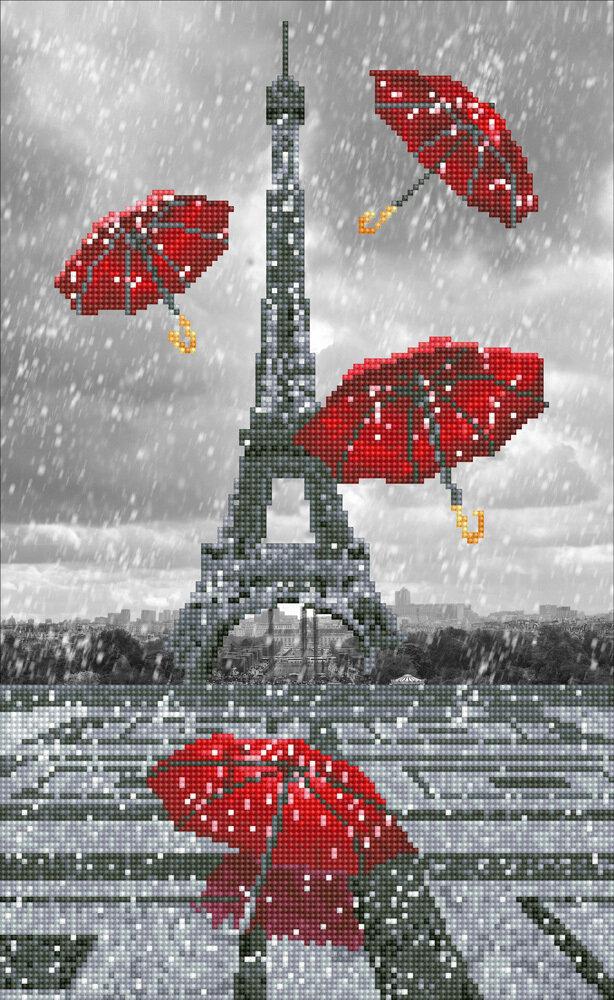 """Алмазная вышивка 32х52см""""ФРЕЯ"""" ALV-75 """"Париж. Летящие зонтики""""ALV-75"""