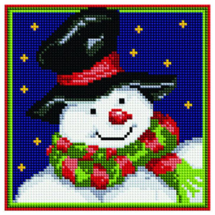 Алмазная мозаика BF 665 Снеговик в шляпе 20*20