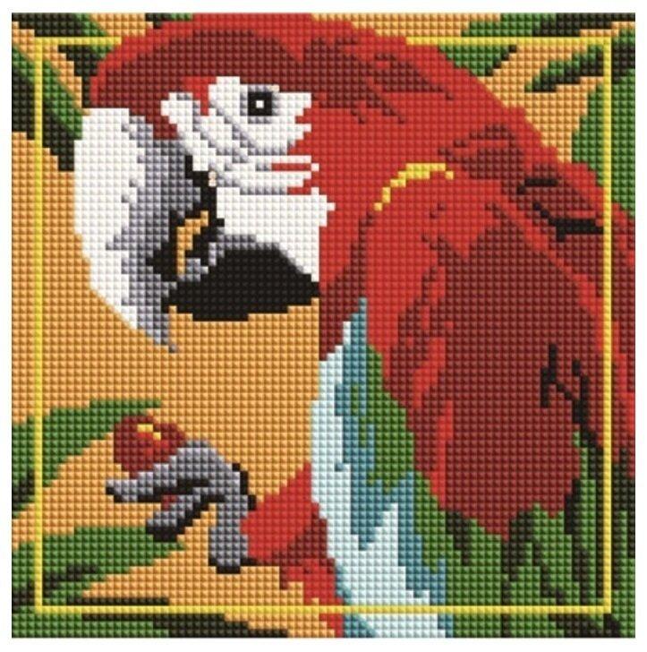 Алмазная мозаика BF 738 Красный Ара 20*20