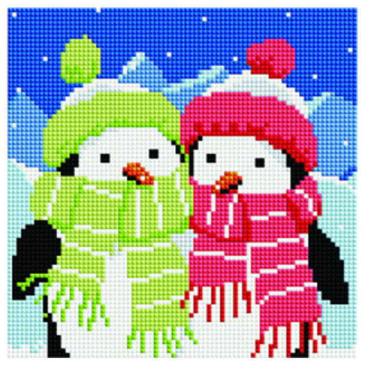 Алмазная мозаика BF 740 Пингвинята 20*20