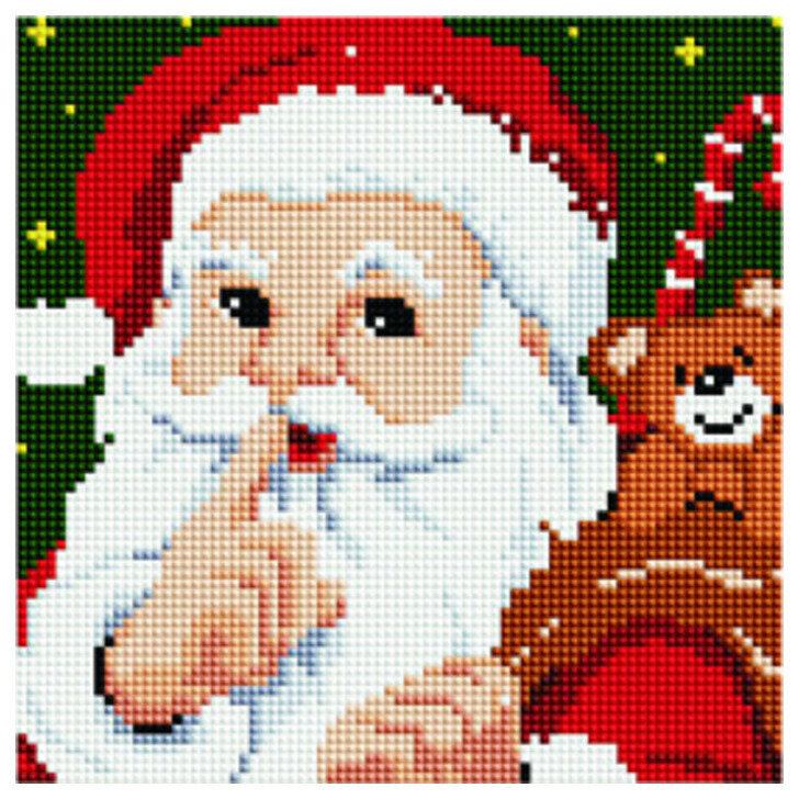 Алмазная мозаика BF 749 Тайна Деда Мороза 20*20
