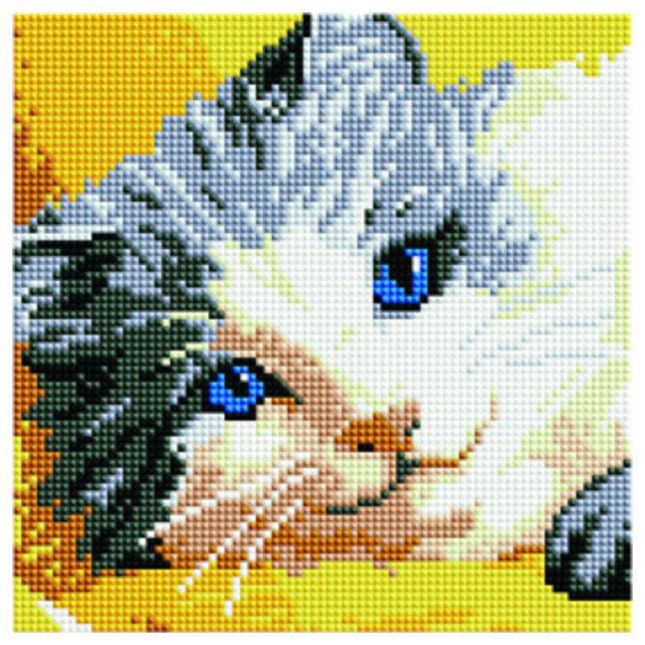Алмазная мозаика BF 829 Голубоглазая кошка 20*20