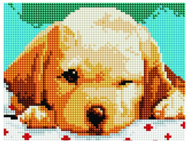 Алмазная мозаика BF 830 Сонный щенок 20*20