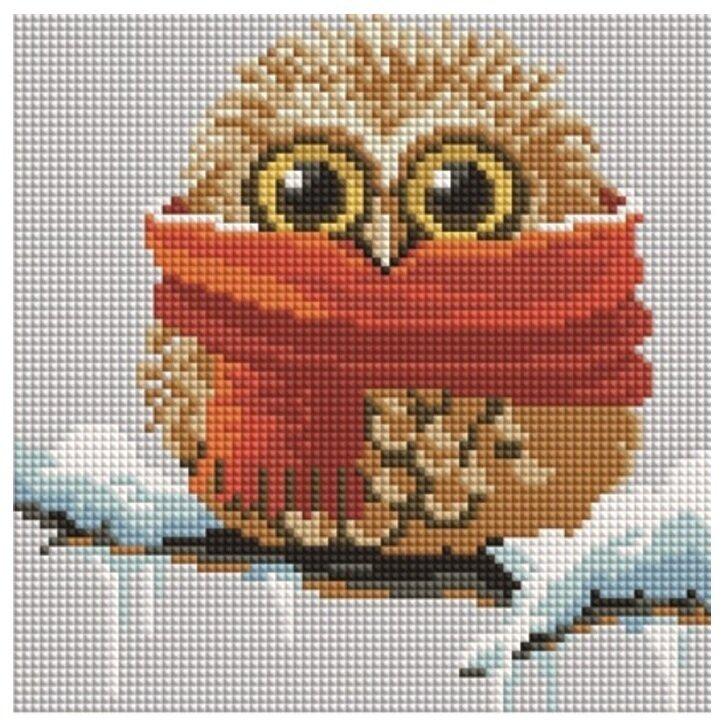 Алмазная мозаика BF 892 Совенок в шарфе 20*20