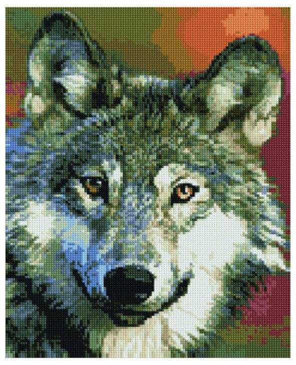 Алмазная мозаика EF 668 Серый волк 30*40