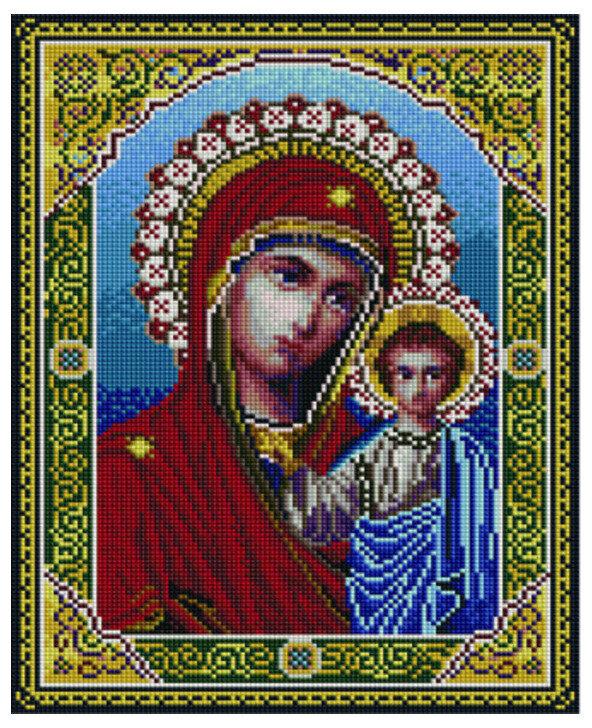 Алмазная мозаика EF 703 Казанская икона Божией Матери 30*40