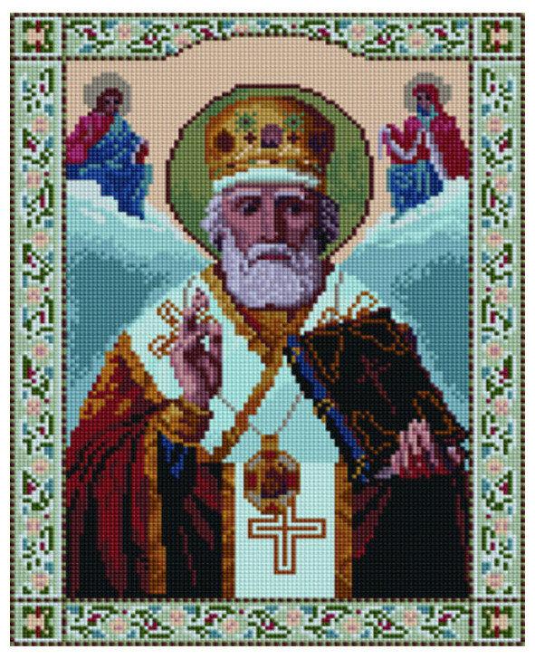 Алмазная мозаика EF 707 Святой Николай Чудотворец 30*40