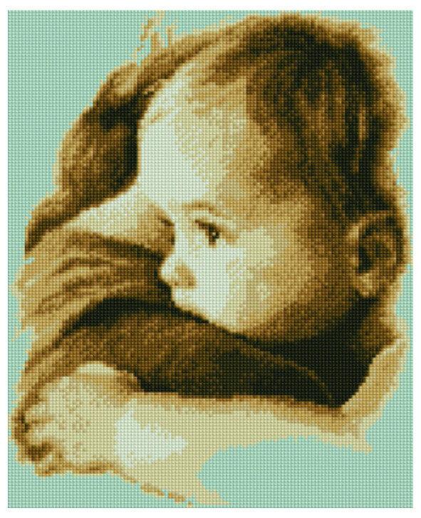 Алмазная мозаика EF 777 Спокойствие малыша 30*40