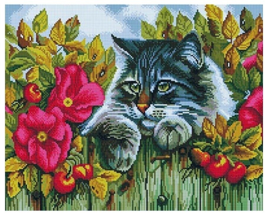 Алмазная мозаика GF 775 Пушистый кот 40*50
