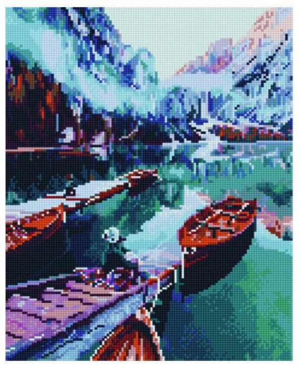 """Алмазная мозаика Paintboy Original""""Горное озеро"""" 30х40"""